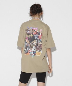 9th anniversary Special Graphic Collage T-shirt[Beige]