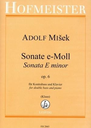 ミシェク : ソナタ ホ短調 Op.6 / コントラバスとピアノ