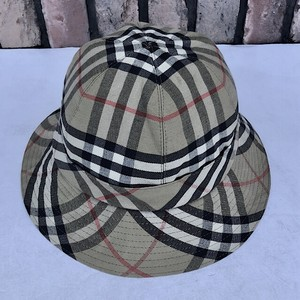 1970s Burberry's Check Cotton Hat Made In England