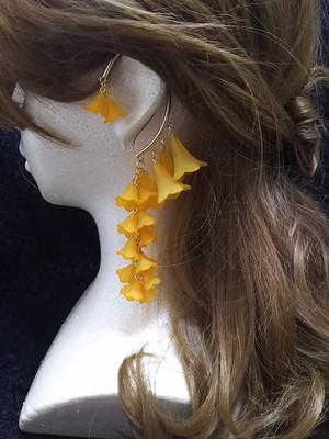 枝垂れイヤーフック オレンジ