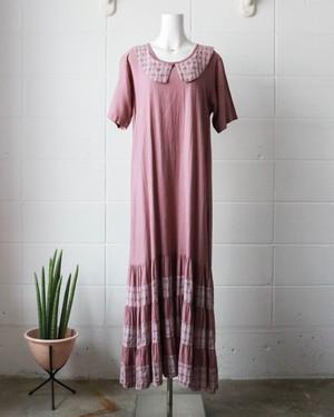 purple checked dress