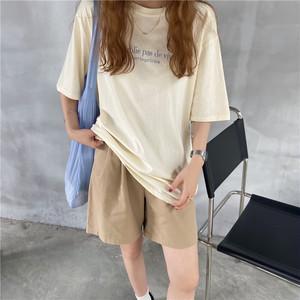 フロントロゴ半袖ロゴTシャツ