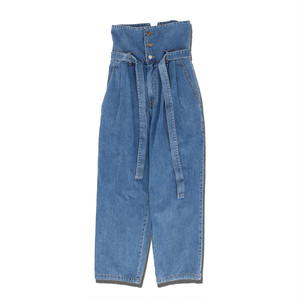 HIGH WAIST DENIM PANTS / INDIGO