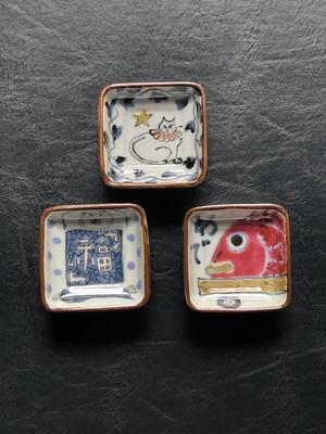 稲葉カヨ 四角豆皿