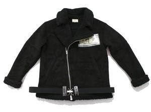 PHANTOM NYC / Riders B-3 type liner boa PVC Jacket  Black (ファントム ニューヨーク ライダースジャケット ボア ブラック)