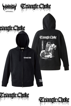 "Triangle Choke ""Fight to Live""  zipper"