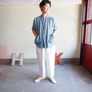 スプリングリネン Girl'sスタンドシャツ 11S65 サイズ2