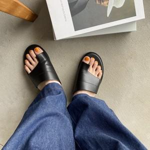 flat thong sandal【black】