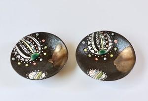 黒風船豆皿