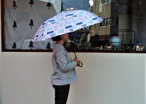 雨傘(幾何学模様・ピンク×青)