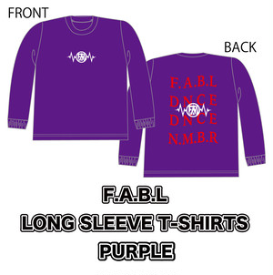 F.A.B.L LONG SLEEVE T-SHIRTS[PURPLE]