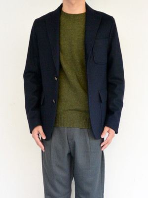 arbre(アルブル)3B Wool JACKET NAVY A173135