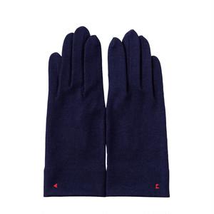 【手袋・メンズ】1120 ミッドナイトブルー/スマホタッチポイント/ウール100%/シンプルデザイン