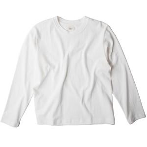 Men's 吊り編み 丸胴長袖Tシャツ