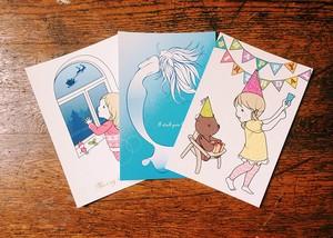 Yearlyポストカード3枚セット