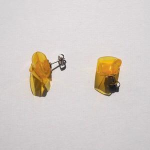 knot earrings Ⓢ-yellow- (ピアス)