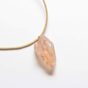 タンジェリン水晶のネックレス