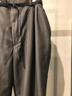 pre-fix oversized slacks with elastic belt - charcoal gray