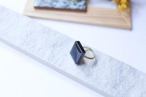 328伝統文化品美濃焼多治見タイル指輪・リング(フリーサイズ)