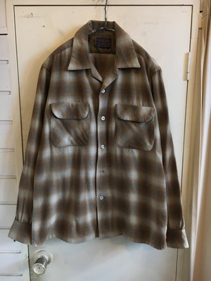 60s pendleton shadow plaid wool shirts
