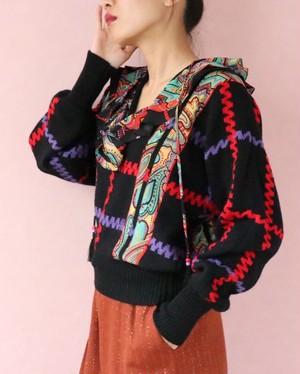 70's ruffle knit