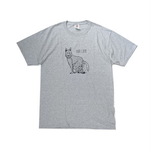 OUR LIFE / WOLFSHIT TEE (Grey)