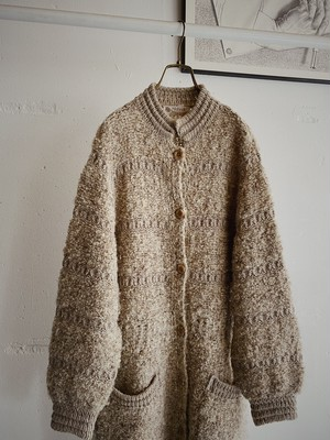 vintage knit long coat made in Canada