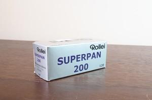 【モノクロネガフィルム 120 ブローニー】Rollei(ローライ)  SUPERPAN200S