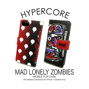 A-338 MAD LONELY ZOMBIES iPhone&スマホ手帳型ケース