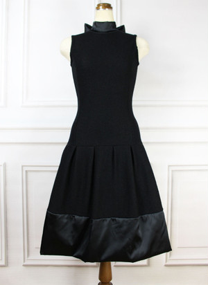 Satin Wool Dress