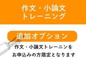 作文・小論文講座追加オプション