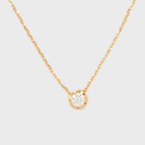 ENUOVE NOTTE Diamond Necklace K18YG(イノーヴェ ノッテ 0.2ct ダイヤモンドネックレス K18イエローゴールド スライドアジャスターチェーン)