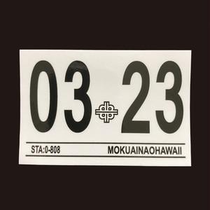 ハワイ 車検ステッカー 2023年3月 (インスペクションステッカー)