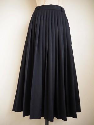 【ドイツ】 ウール混ロングプリーツスカート
