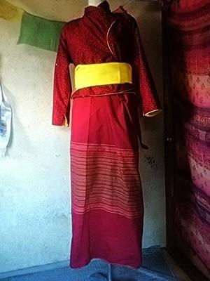 商品番号tm-01タマン族民族衣装セット:女性用(size:L)