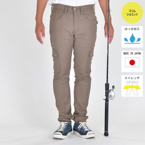 """The Colorful Break Line"" SLIM STRETCH  FISHING  CARGO PANTS  BW-403VMC MOCA"