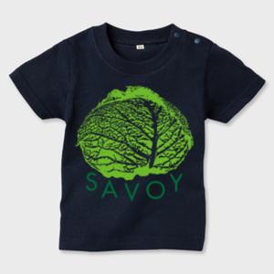 SAVOY(サボイ・キャベツ)1  キッズTシャツ ネイビー