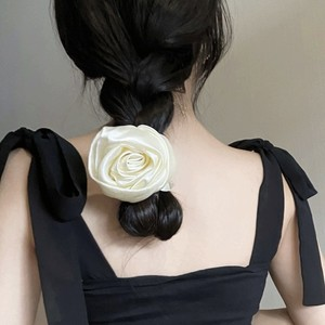 big white rose chouchou