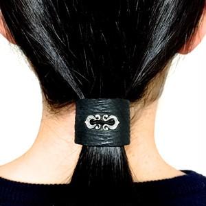 LEATHER HAIR CUFF [ RHYTHMIC HORSESHOE]   / レザーヘアカフス リズミックホースシュー