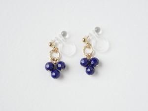 Petit3/ラピスラズリの小さなイヤリング/14kgf[N01250]mc