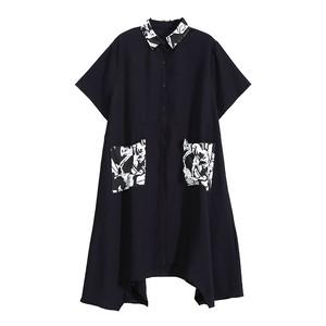 プリントシャツドレス   1-256