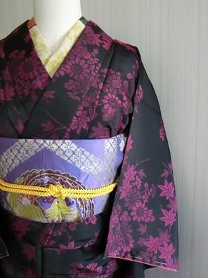 昭和レトロ 小菊が可愛い お召 袷着物