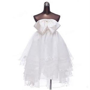 ミニドレス 花嫁ドレス ウェディングドレス ウエディングドレス パーティドレス 結婚式ドレス ワンピース 大きいサイズ ブライダルドレス 妊婦 無地 秋冬 qx323