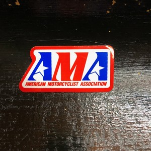 AMA Vintage Sticker Square 小(American Motorcycle Association)