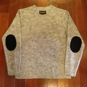 TOWN CRAFT / タウンクラフト | MOHAIR KNIT - GRAY