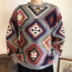 ウール セーター 柄 メンズ