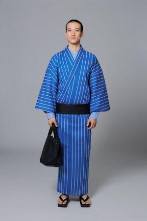 ゆかた / Stripe / Blue(With tailoring)