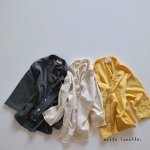 韓国買い付け品 ナチュラル Vカット 長袖カーディガン 80-110㎝  韓国子供服 子供服カーディガン