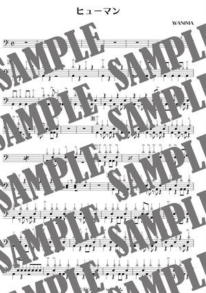ヒューマン/WANIMA(ドラム譜)