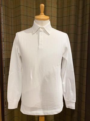 ≪CHANTECLAIR 別注≫長袖 ポロシャツ(White)